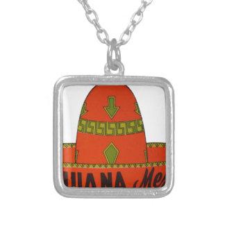 Tijuana Sombrero Travel Sticker Silver Plated Necklace