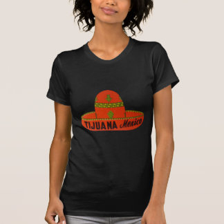 Tijuana Sombrero Travel Sticker T-Shirt