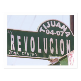 Tijuana Street Sign Postcard