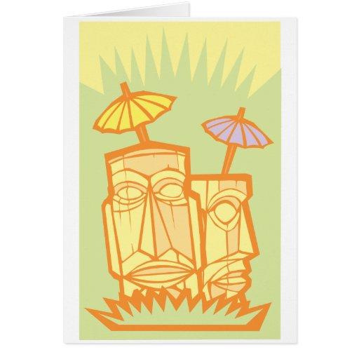 Tiki #3 greeting cards