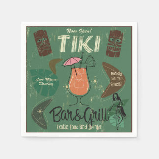 Tiki Bar&Grill Cocktail Napkins Disposable Napkin