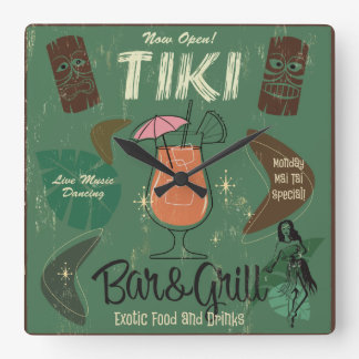 Tiki Bar&Grill Wall Clock