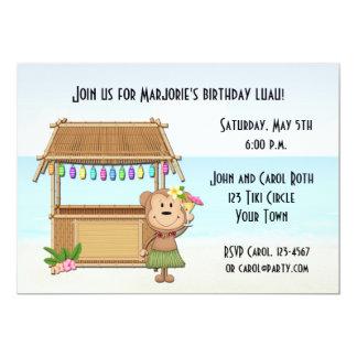 Tiki Bar, Luau Monkey Invitation