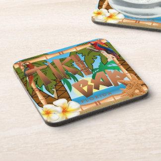 Tiki Bar Party Design Coaster
