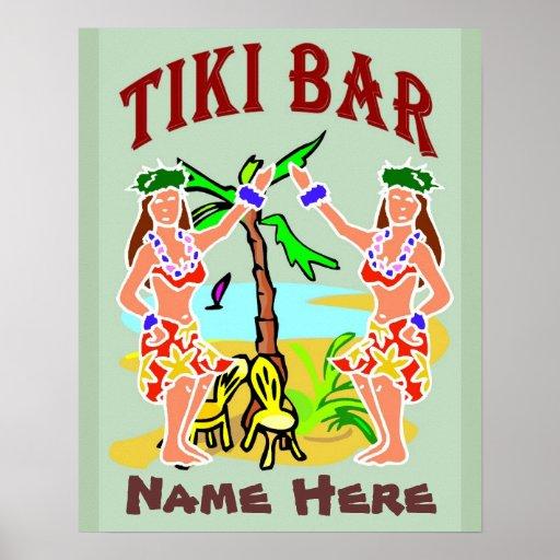 Tiki Bar Sign add name