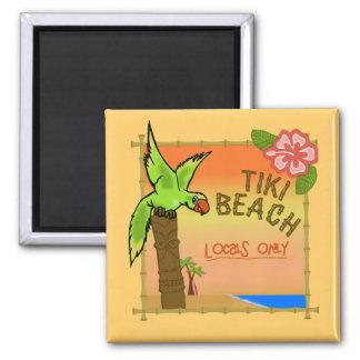 Tiki Beach Magnet