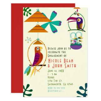 Tiki Birds Retro Vintage Luau Party Invitations