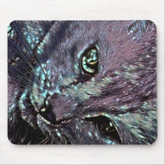 Tiki Cat my Love Mouse Pad