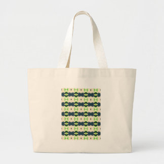 Tiki design pattern large tote bag