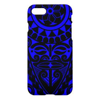 Tiki face and tribal sun tattoo design iPhone 7 case