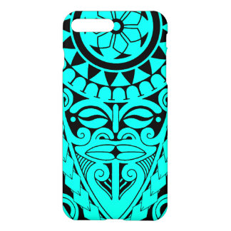 Tiki face and tribal sun tattoo design iPhone 7 plus case