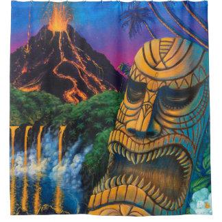 Tiki God Shower Curtain