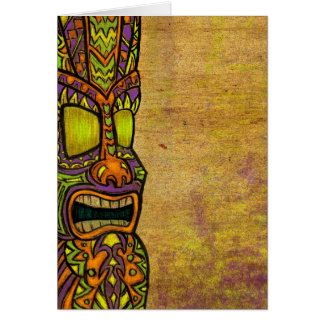 Tiki Greeting Card
