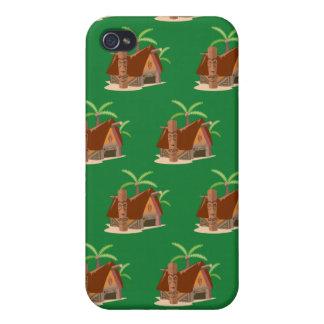 Tiki House green iPhone 4 Covers