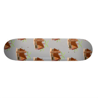 tiki house grey custom skateboard