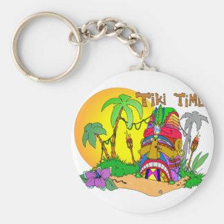 TIKI Island TIME Key Ring