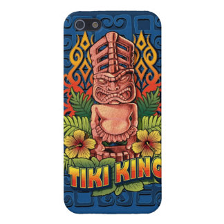 Tiki King Blue iPhone 5/5S Cases