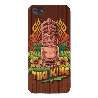 Tiki King Wood iPhone 5/5S Cases