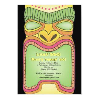 Tiki Luau Hawaiian Tropical Theme Beach Party 13 Cm X 18 Cm Invitation Card