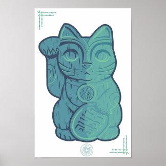 Tiki Lucky Cat Poster