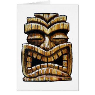 Tiki Man Card