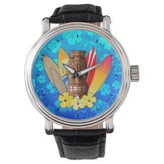 Tiki Mask And Surfboards Watch