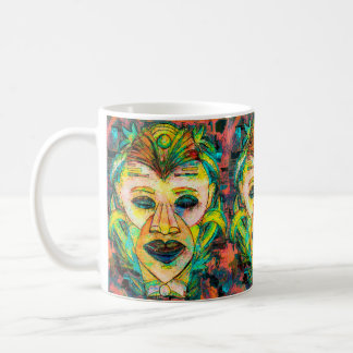 TIKI MASK TROPICAL COFFEE MUG