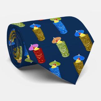 Tiki Mugs Tropical Cocktail Tie