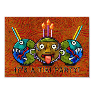 Tiki Party (2-Sided Invitation) Card