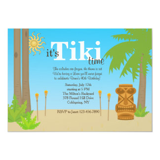 Tiki Party Invitation