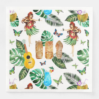 Tiki Party Napkin Disposable Serviettes