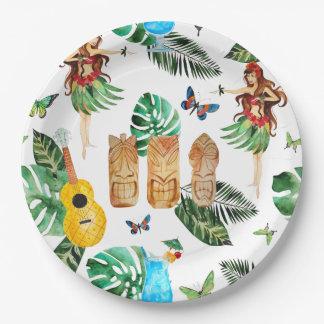 Tiki Party Plates