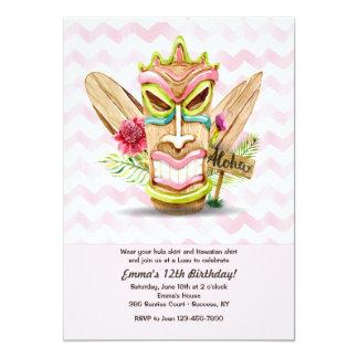 Tiki Pink Invitation