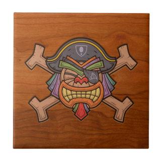 Tiki Pirate 813 Small Square Tile