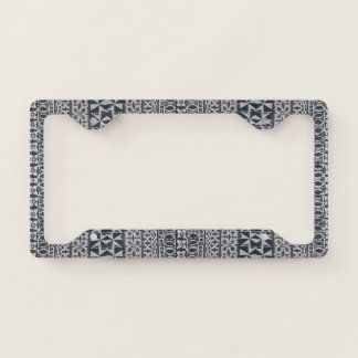 Tiki Tapa cloth license plate holder Licence Plate Frame