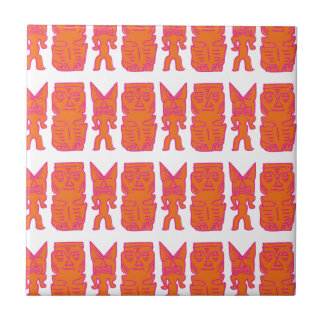 Tiki Time in Orange Tile