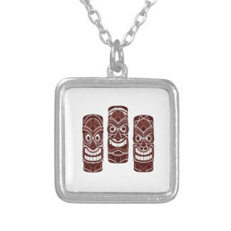 Tiki Time Silver Plated Necklace