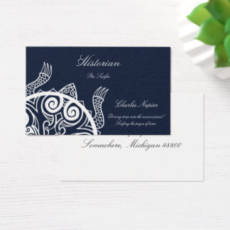 Tiki Warrior Turtle Tattoo Business Card