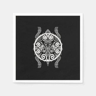 Tiki Warrior Turtle Tattoo Disposable Napkin