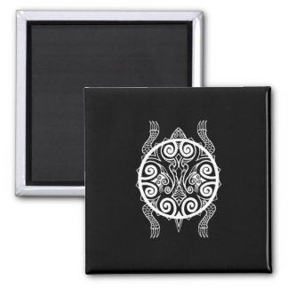 Tiki Warrior Turtle Tattoo Magnet