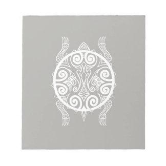 Tiki Warrior Turtle Tattoo Notepad
