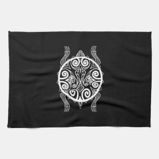 Tiki Warrior Turtle Tattoo Tea Towel