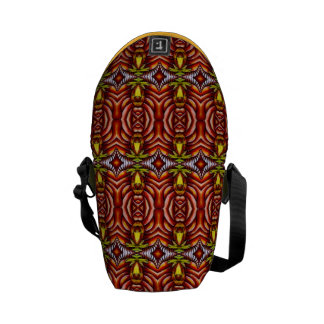 Tiki Zebra Stripe Brown Pattern Totem Pole Commuter Bags