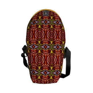 Tiki Zebra Stripe Brown Pattern Totem Pole Commuter Bags