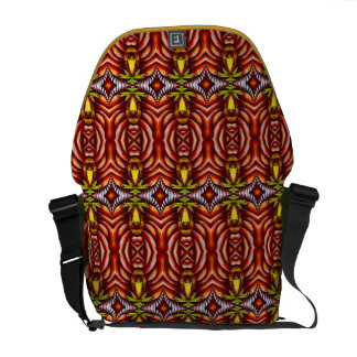Tiki Zebra Stripe Brown Pattern Totem Pole Courier Bag