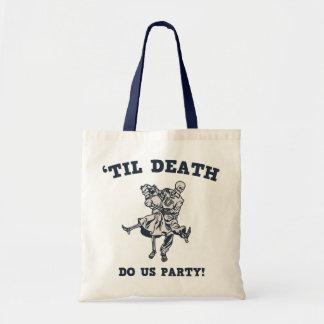 'Til Death Do Us Canvas Bags