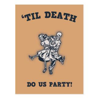 'Til Death Do Us Postcard