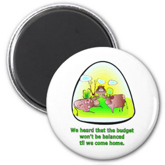 Til the Cows Come Home 6 Cm Round Magnet