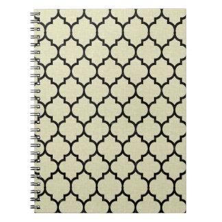 TILE1 BLACK MARBLE & BEIGE LINEN (R) NOTEBOOKS