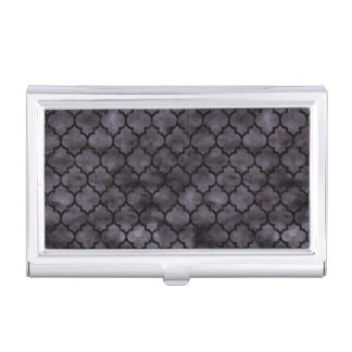 TILE1 BLACK MARBLE & BLACK WATERCOLOR (R) BUSINESS CARD HOLDER